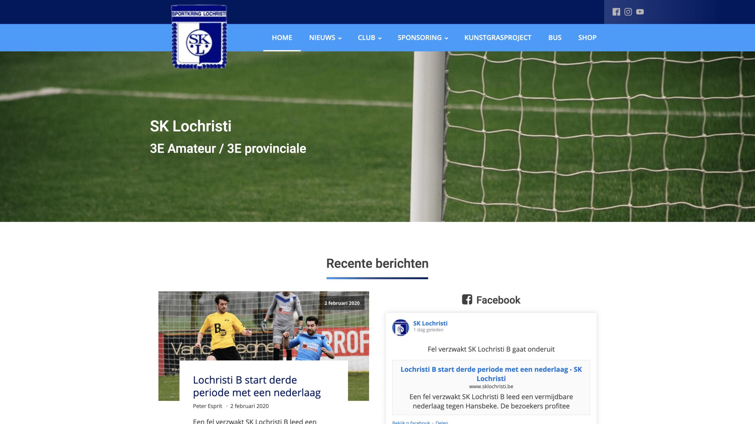 Website voetbalclub S.K. Lochristi